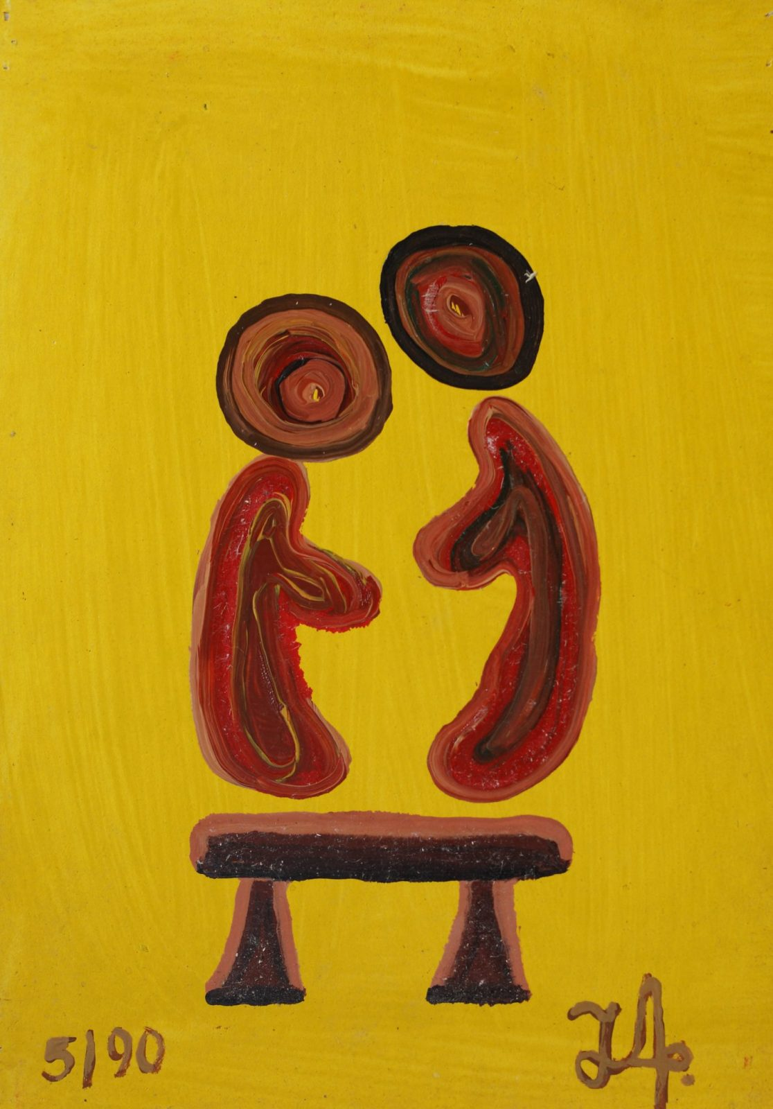 Man & Chair | Yellow #2